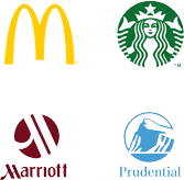 McDonalts, Starbucks, H&R Block, UPS, Marriot, Prudential