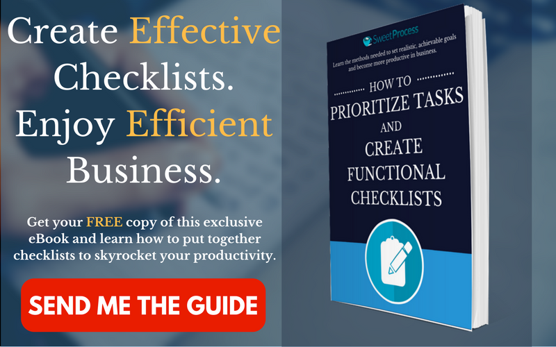 Click here to download the free guide on How to Prioritize Task and Create Functional Checklists!