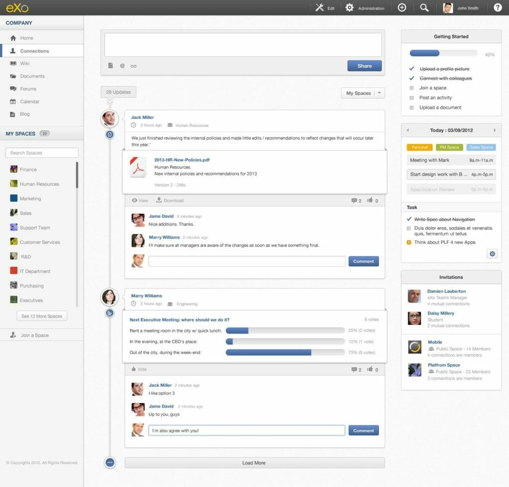 eXo one of the 50 Top SharePoint Alternatives