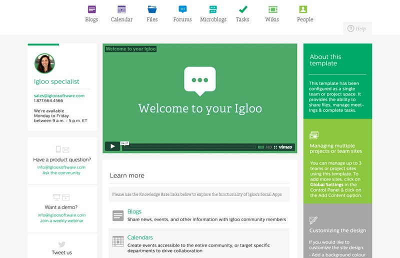 Igloo one of the 50 Top SharePoint Alternatives