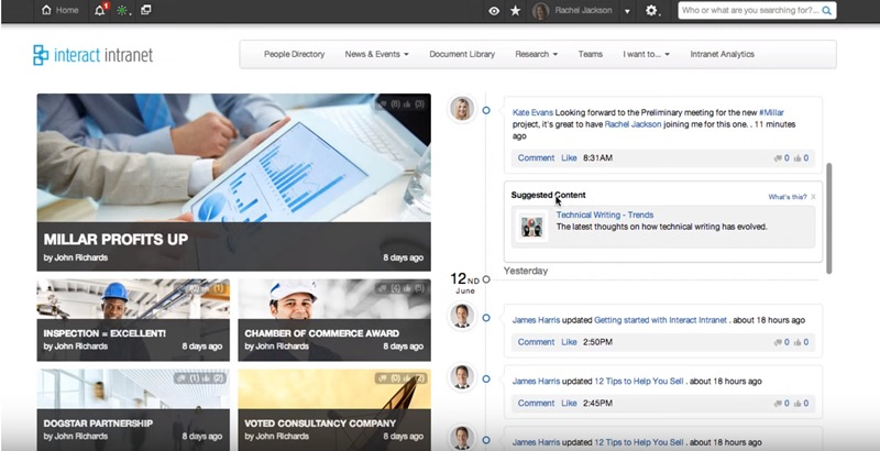 Interact Intranet one of the 50 Top SharePoint Alternatives