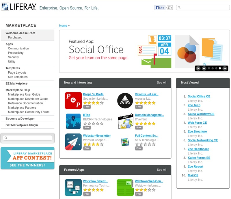 Liferay one of the 50 Top SharePoint Alternatives