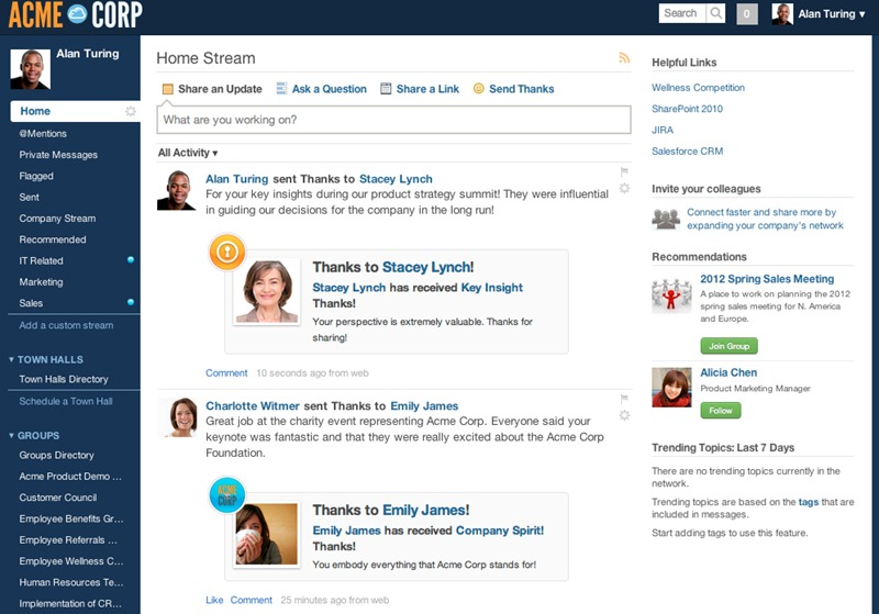 Socialcast one of the 50 Top SharePoint Alternatives