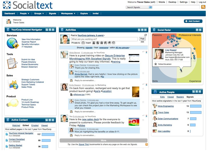 Socialtext one of the 50 Top SharePoint Alternatives