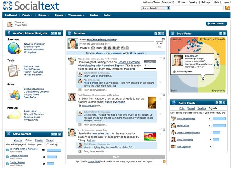 Socialtext one of the 50 Top SharePoint Alternatives