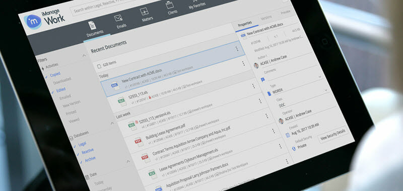 iManage one of the 50 Top SharePoint Alternatives