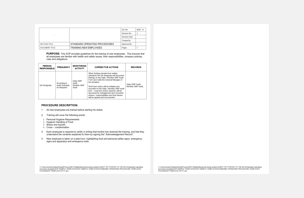 Do You Need a Standard Operating Procedure Template? Here Are Over